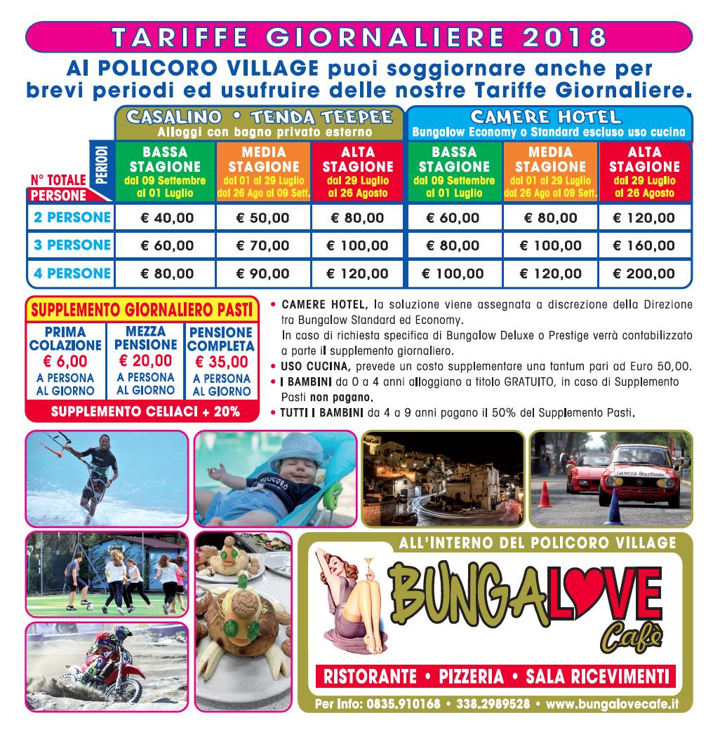 TARIFFE GIORNALIERE 2018