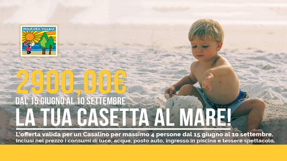 Offerta Casalino: dal 15 giugno al 10 settembre a soli 2900 euro