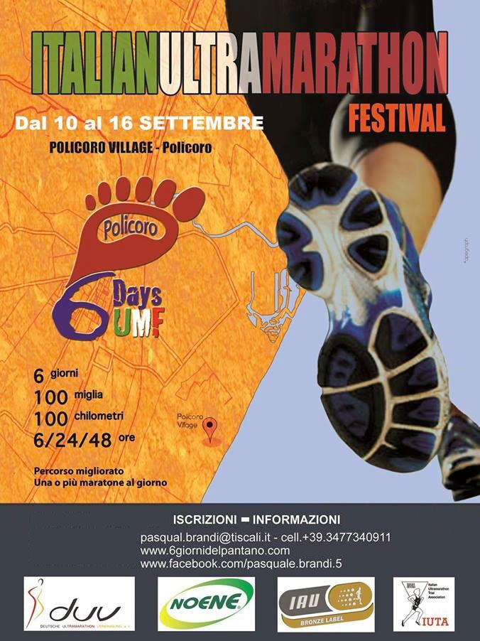 Al Policoro Village ritorna l'Italian Ultra Marathon festival: 10-16 settembre