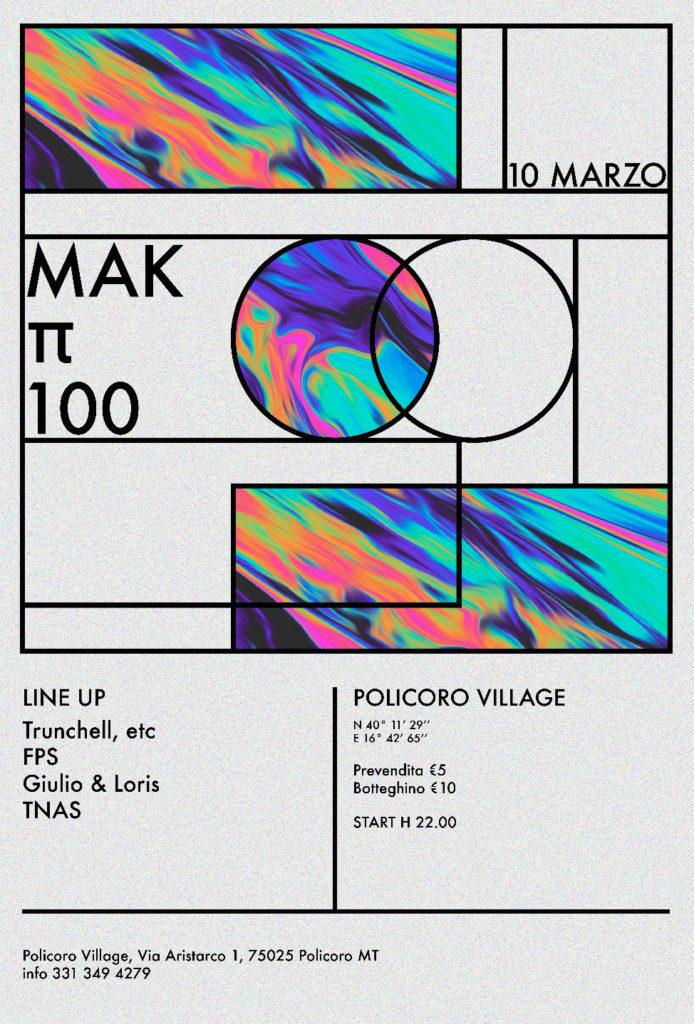 Mak Π 100: il 10 marzo la festa è al Policoro Village