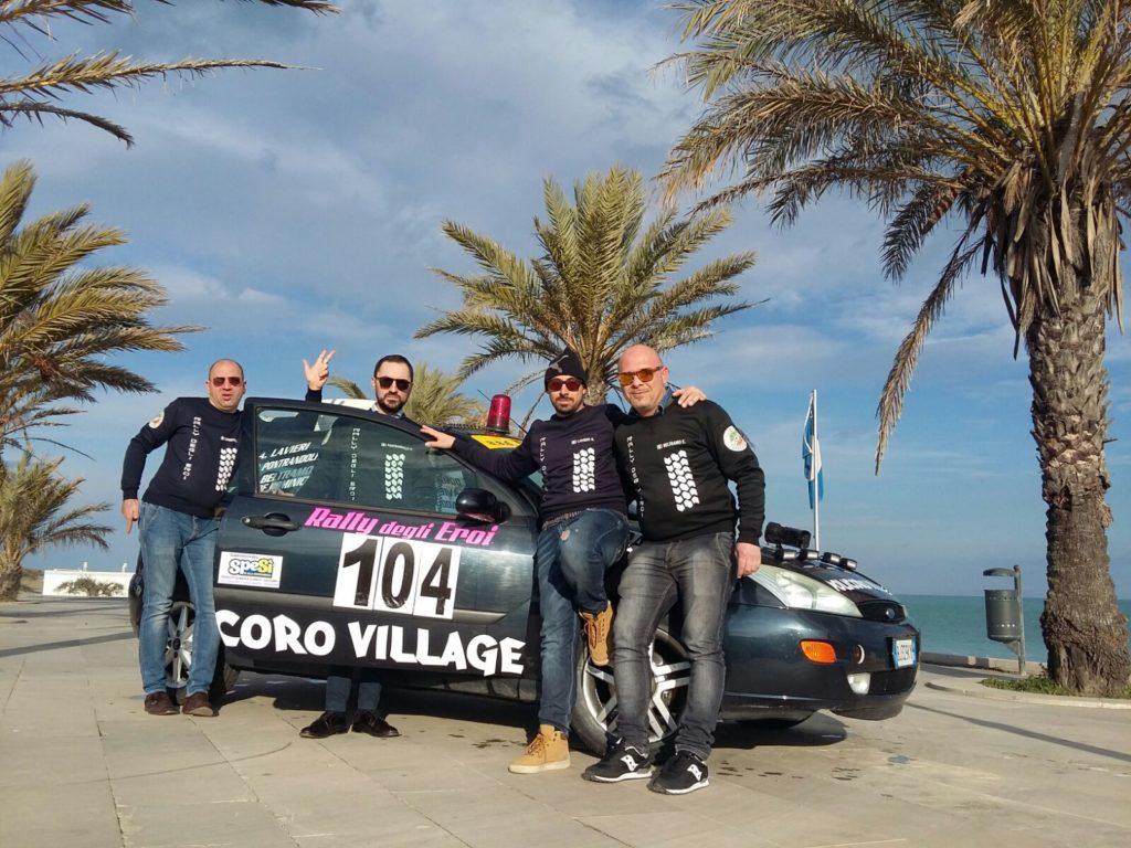 La scuderia Policoro Corse al Rally degli Eroi: per i vincitori un soggiorno al Policoro Village